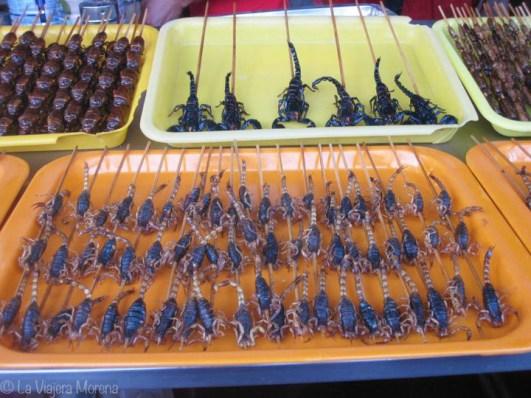 Scorpions in Wangfujing, Beijing, China