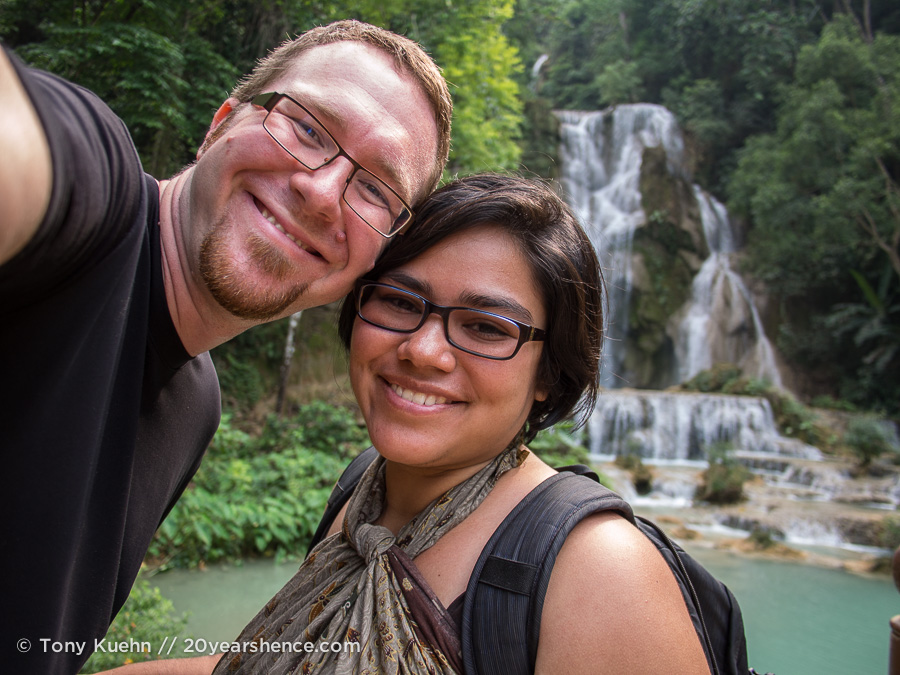 Steph and Tony in Laos