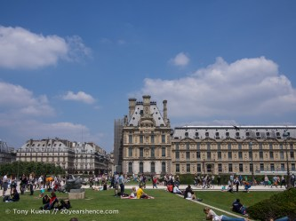The gardens outside the Louvre, Paris