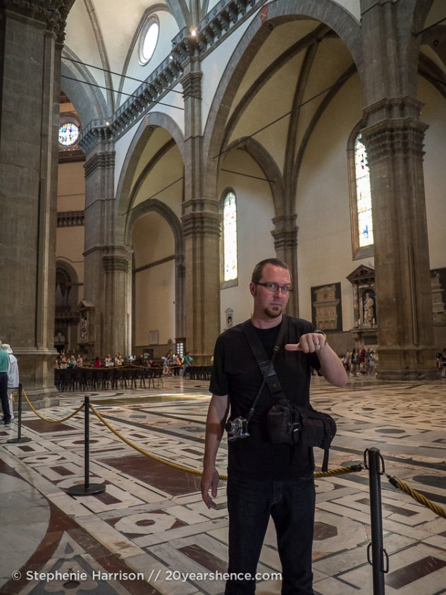 Tony in the Duomo