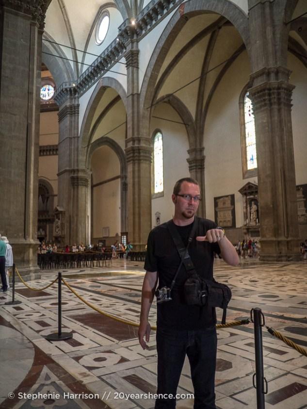 Tony in the Duomo