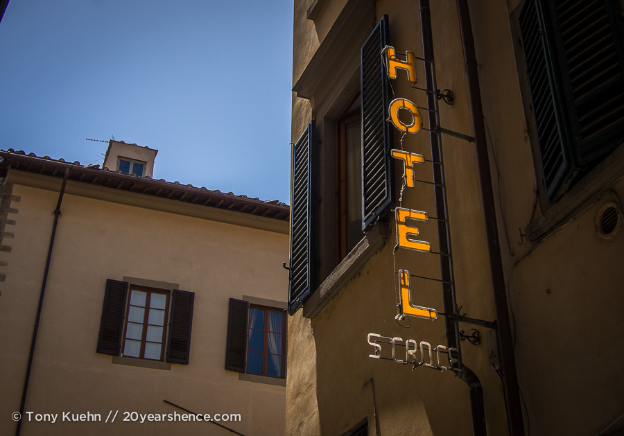 Italy Hotel Sign