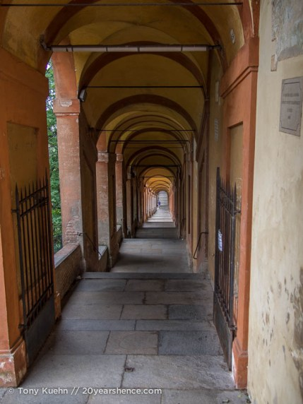 Covered walk up to San Luca Basillica