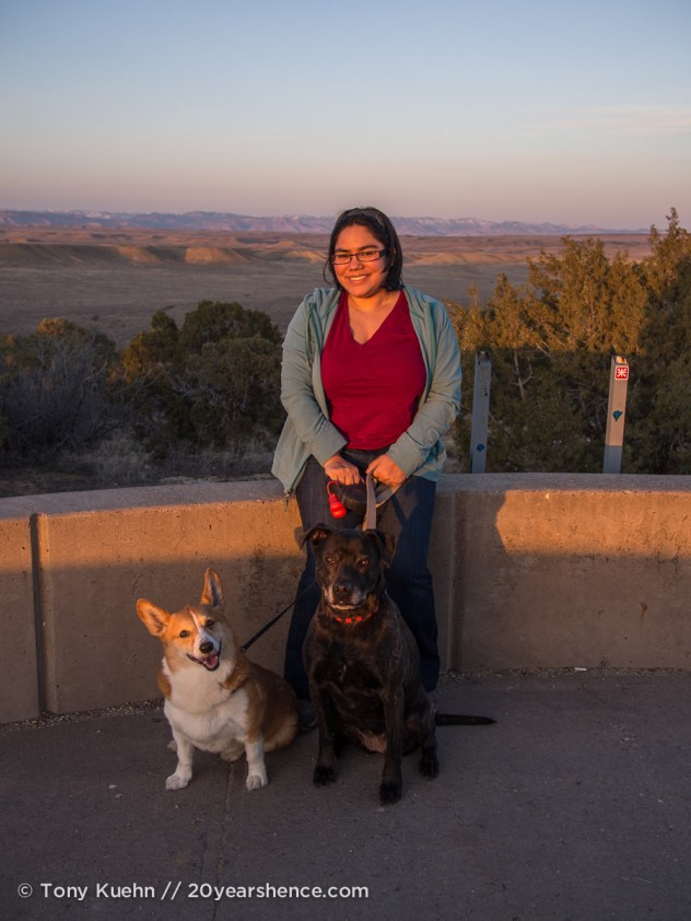 Steph and the pups in Utah