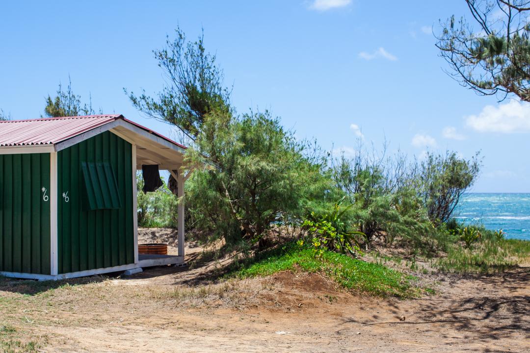 Oahu's North Shore | Cabin Camping at Malaekahana Beach ...