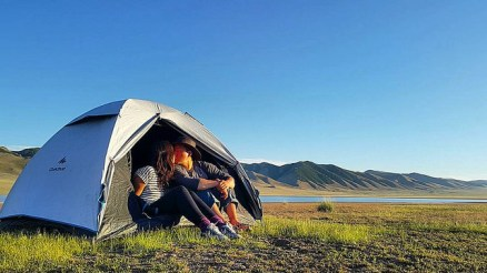 camping in the middle of nowhere, mongolia