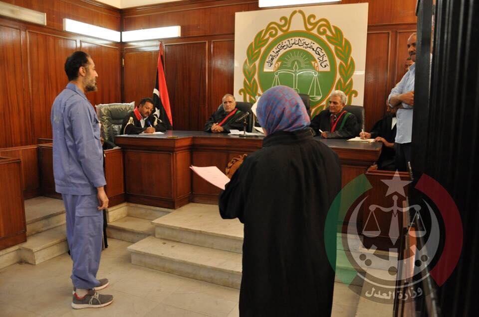 محكمة طرابلس تؤجل محاكمة الساعدي