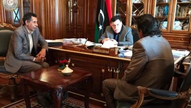 رئيس المجلس الرئاسي فائز السراج نائب عميد بلدية البيضاء عبد الله