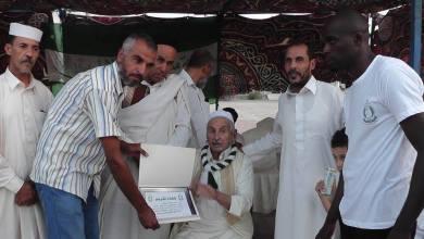 مشجعو الأهلي برقدالين يكرمون أبوالشواشي