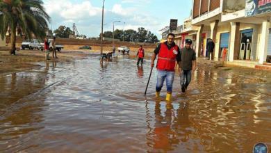تصريف المُختنقات المائية بشوارع المرج