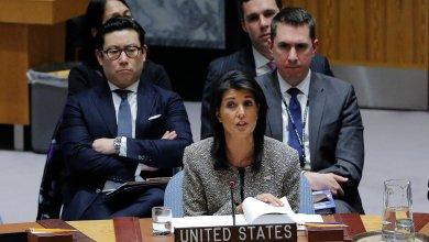 المندوبة الأميركية لدى الأمم المتحدة نيكي هالي