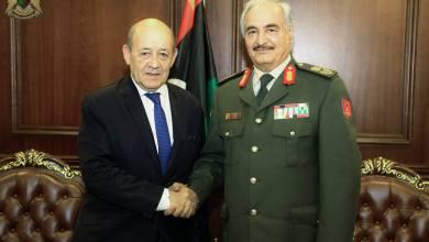 المشير خليفة حفتر وجان إيف لودريان