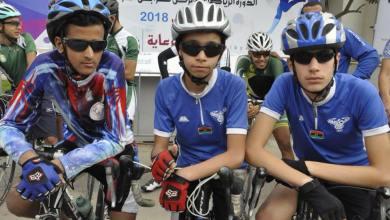 سباق الدراجات التي أقيمت ضمن الدورة الرياضية لمعرض طرابلس الدولي