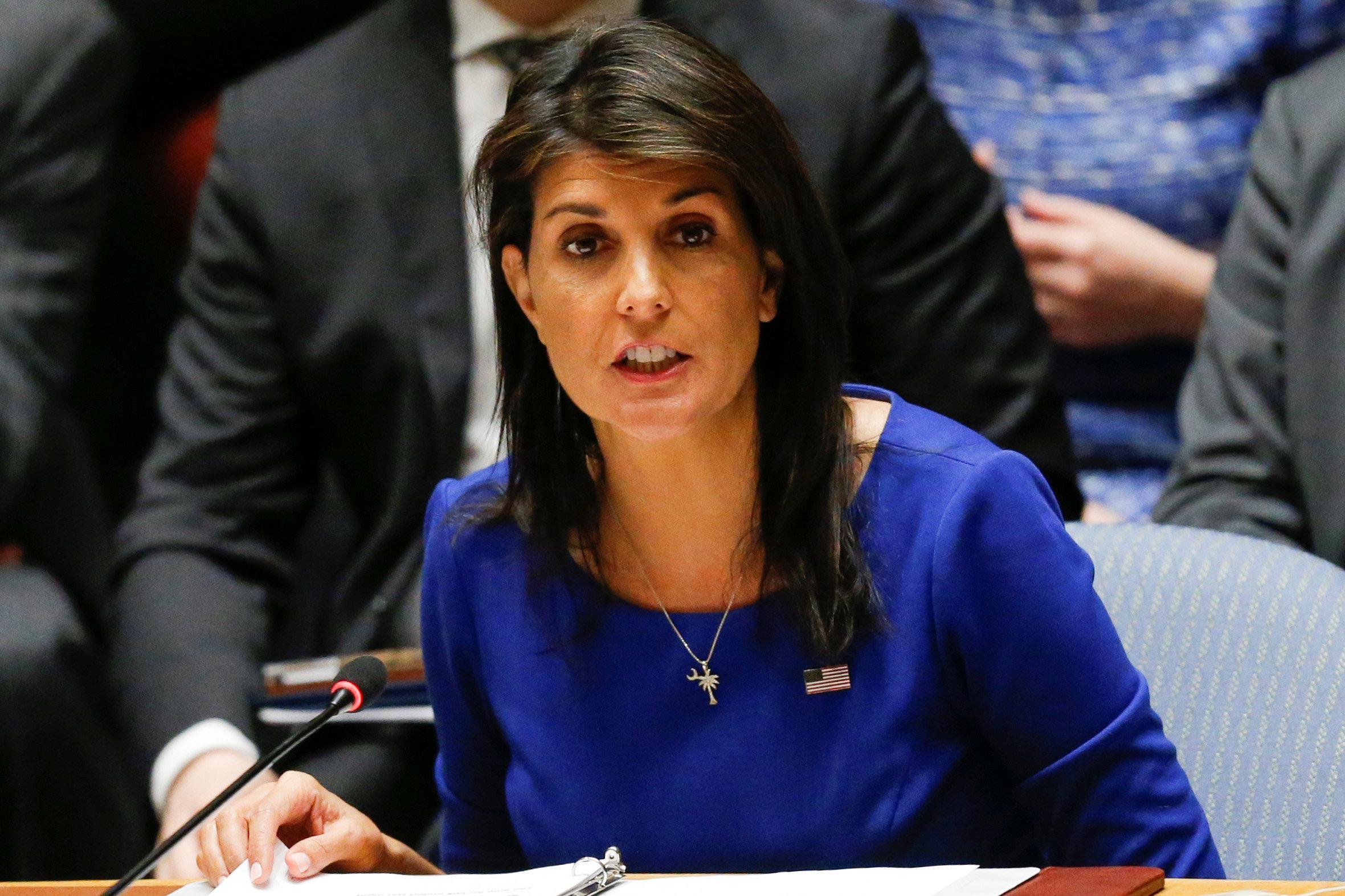 نيكي هيلي السفيرة الأميركية بالأمم المتحدة