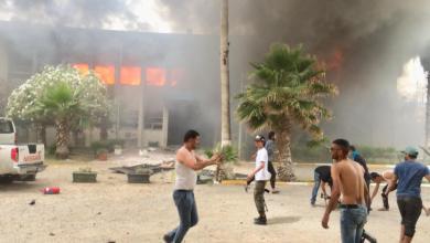 صور من انفجار مقر مفوضية الانتخابات