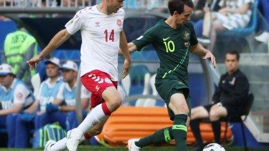 لقاء أستراليا والدنمارك في مونديال روسيا 2018