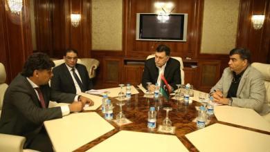 اجتماع فائز السراج وعبد السلام عاشور ومحمد عبد الواحد عبد الحميد والصديق الصور