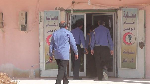 حملة تفتيشيةمن قبل أعضاء الحرس البلدي في مدينة تيجي