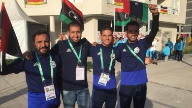 سليمان القاضي ومحمد المشري في دورة الألعاب الأولمبية للشباب