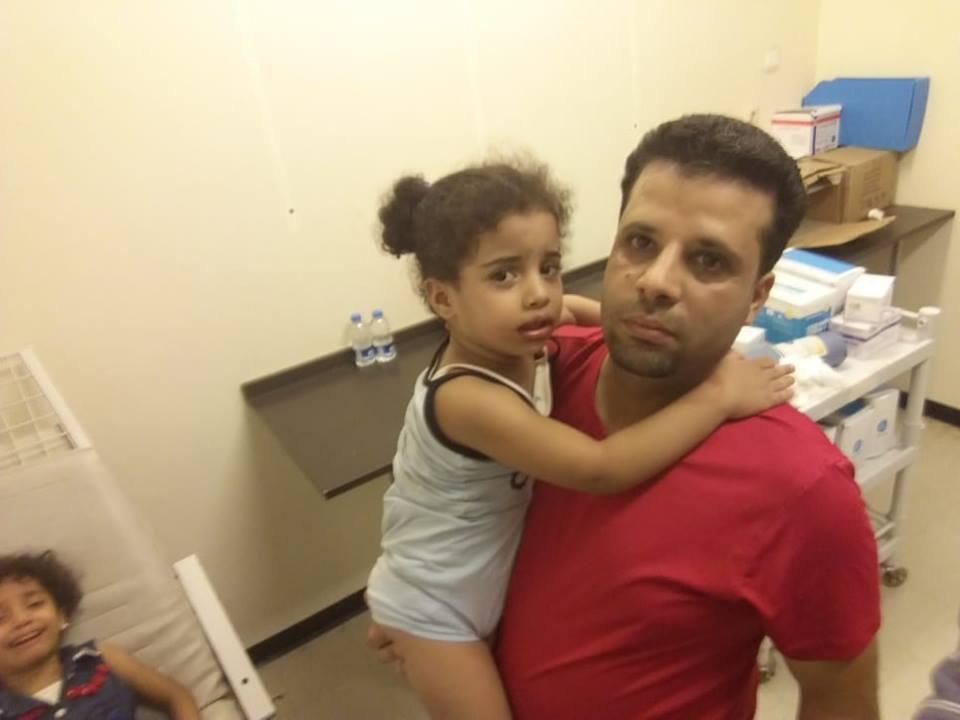 طفلة مصابة في حادثة البوسكو