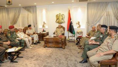 اجتماع المشير خليفة حفتر بأمراء المناطق العسكرية على مستوى البلاد - الرجمة