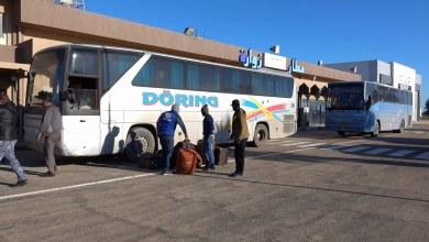 ترحيل مهاجرين غير قانونين من مطار زوارة الى مطار معيتيقة