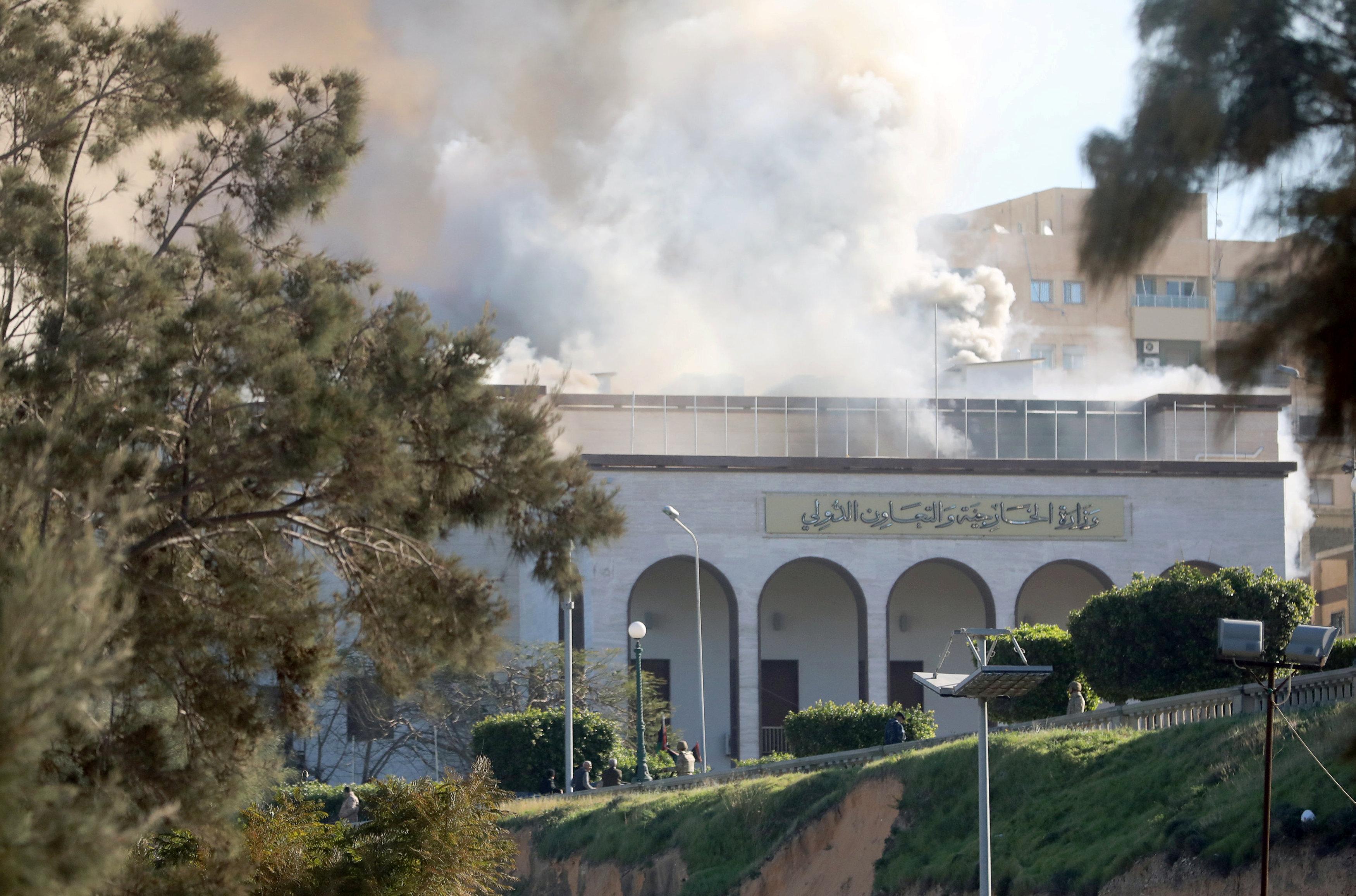 الهجوم الإرهابي على وزارة الخارجية في طرابلس