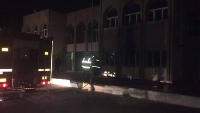 حريق مقر لجنة المصالحة مصراتة تاورغاء بمنطقة طمينة - مصراتة