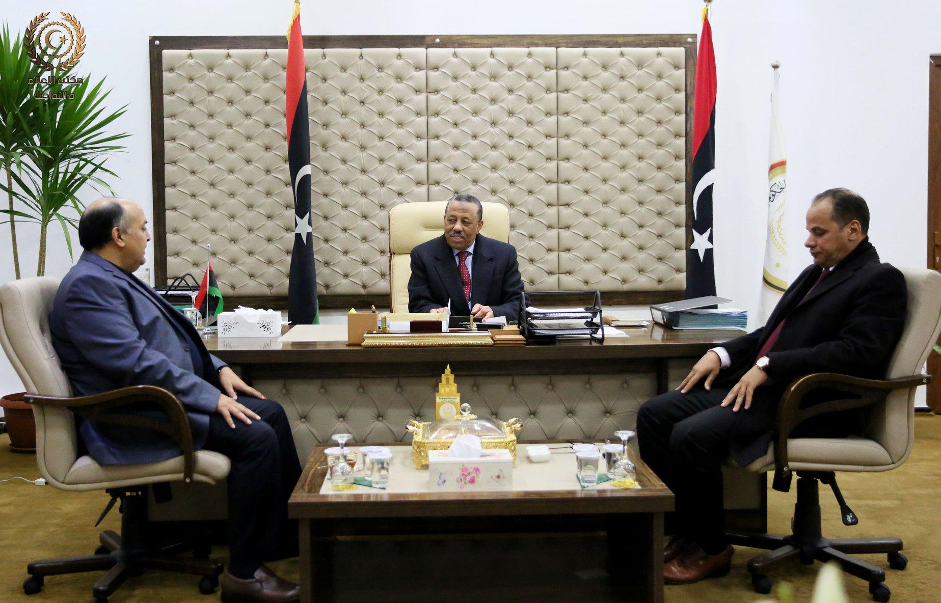اجتماع عبدالله الثني وأحميد حومة وعبدالله المصري - قرنادة