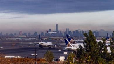 "مطار ""نيو آرك"" الدولي بولاية نيو جيرسي"