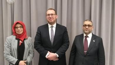 """خالد المشري مع مسؤول الشؤون المغاربية بالخارجية الأميركية """"جاشوا هاريس"""""""