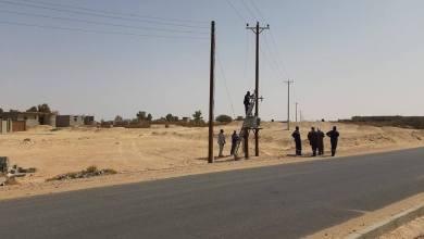 فرق الصيانة فى المنطقة الجنوبية بمدينة مرزق