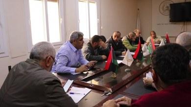 اجتماع بخصوص ازمة الصرف الصحي - زليتن