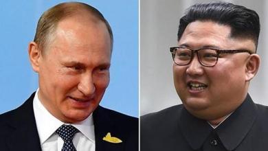 الرئيس الروسي فلاديمير بوتين وزعيم كوريا الشمالية كيم جونغ أون