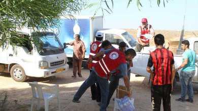 مساعدات غذائية الهلال الأحمر - درنة