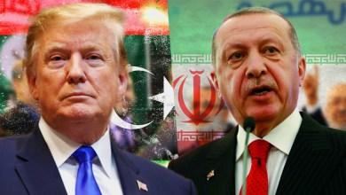 اخوان تونس، علم إيران، الرئيس التركي رجب الطيب اردوغان، اخوان الجزائر، علم ليبيا، الرئيس الأميركي دونالد ترامب