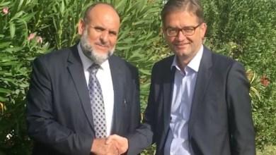 السفير الألماني يلتقي عميد بلدية الزنتان
