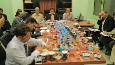 اجتماع وزير الصحة بالحكومة المؤقتة الدكتور سعد عقوب مع وكلاء ومديري الإدارات بوزارة الصحة - مستشفى المرج التعليمي