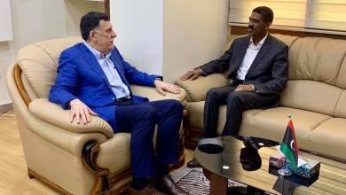 اجتماع عضو المجلس أحمد حمزة مع رئيس المجلس الرئاسي بحكومة الوفاق فائز السراج