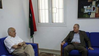 غسان سلامة يلتقي مع عميد بلدية بني وليد