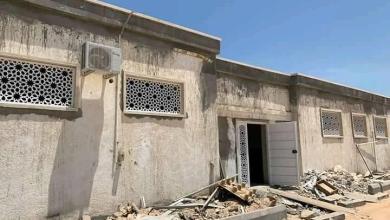 أعمال الصيانة بمستشفى الرازي للأمراض النفسية في مدينة طرابلس