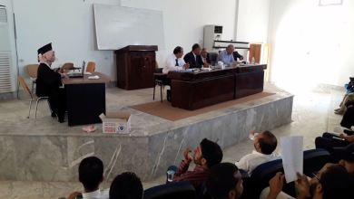 تخريج الدفعة 14 من طالبات وطلبة قسم الصحافة بجامعة الزيتونة في مدينة ترهونة