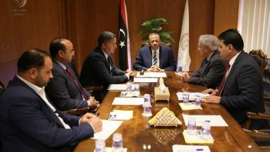 رئيس الحكومة المؤقتة عبدالله الثني يرعى مراسم توقيع إنشاء صالة ركاب جديدة لمطار بنينا