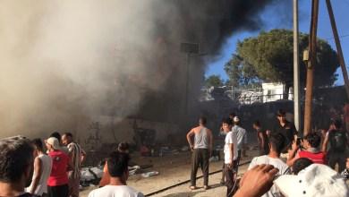 أعمال عنف في مخيم للاجئين باليونان