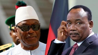 الرئيس النيجري محمد إيسوفو والمالي إبراهيم بوبكر كيتا