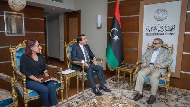 المجلس الأعلى للدولة خالد المشري والسفير التركي لدى ليبيا سرحت أكسن