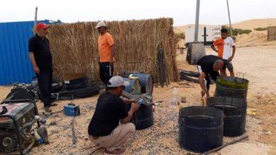 اكتمال تجهيزات مخيم رالي تي تي في مدينة ودان