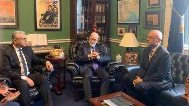 لقاء سيالة و باش آغا مع عضو الكونغرس تيد دوتش رئيس اللجنة الفرعية للشرق الأوسط وشمال أفريقيا