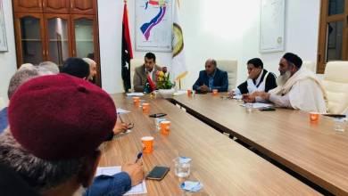 المجلس البلدي صبراتة يبحث ملف حصر الأسر النازحة