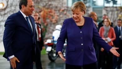 المستشارة الألمانية أنجيلا ميركل والرئيس المصري عبدالفتاح السيسي